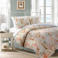Oceanside Cottage Reversible Quilt Set in Aqua