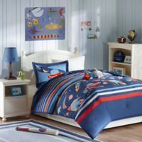 Mizone Kids Space Cadet 4-Piece Full/Queen Comforter Set in Blue