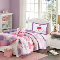 Mizone Kids Twirling Tutu 4-Piece Full/Queen Coverlet Set