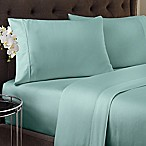 Crowning Touch 500-Thread Count Wrinkle Free and Fade No More Queen Sheet Set in Aqua Blue