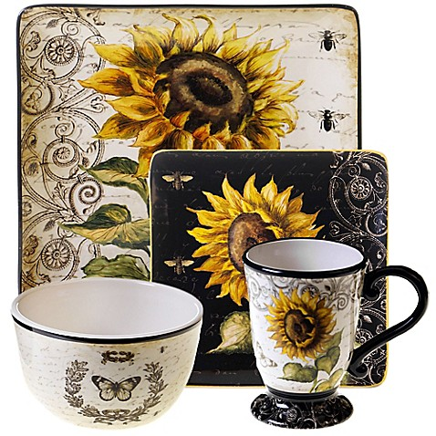 Certified International French Sunflower Dinnerware Collection - Bed Bath u0026 Beyond  sc 1 st  Bed Bath u0026 Beyond & Certified International French Sunflower Dinnerware Collection - Bed ...