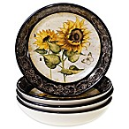 Certified International French Sunflower Soup/Pasta Bowls (Set of 4)