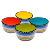 Certified International Tequila Sunrise Assorted Ice Cream Bowls (Set of 4)