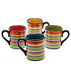 Certified International Tequila Sunrise Assorted Mugs (Set of 4)