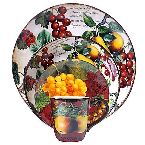Certified International Botanical Fruit Dinnerware