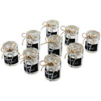 Ivy Lane Design Rectangular Chalkboard Tag Mini Jelly Jar Favor Pack (Set of 9)
