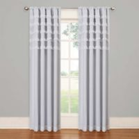 SolarShield® Rihanna Rod Pocket 63-Inch Room Darkening Window Curtain Panel in White