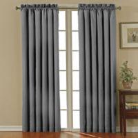 SolarShield® Carmen Rod Pocket 63-Inch Room Darkening Window Curtain Panel in Charcoal