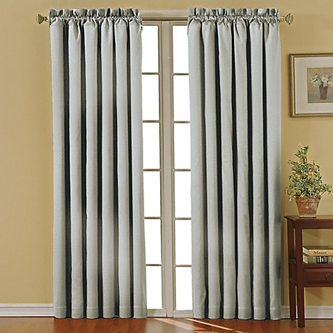 Buy Solarshield Carmen Rod Pocket 84 Inch Room Darkening Window Curtain Panel In Grey From Bed