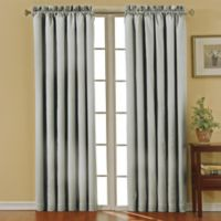 SolarShield® Carmen Rod Pocket 63-Inch Room Darkening Window Curtain Panel in Grey