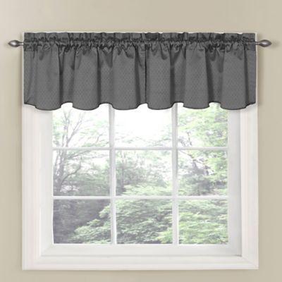 SolarShieldR Carmen Room Darkening Window Curtain Valance In Grey