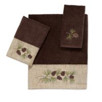 Avanti Pine Branch Hand Towel in Mocha