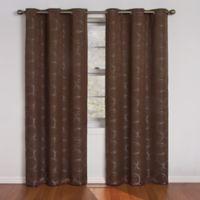 SolarShield® Sphere Grommet Top 63-Inch Room Darkening Window Curtain Panel in Chocolate