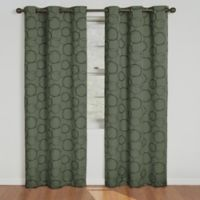 SolarShield® Sphere Grommet Top 63-Inch Room Darkening Window Curtain Panel in Sage