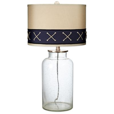 Sail Ahoy Table Lamp in Clear with Linen Shade