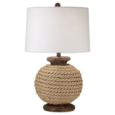 Monterey Table Lamp In Natural With Canvas Shade