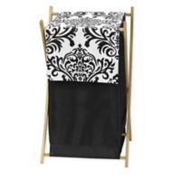 Sweet Jojo Designs Isabella Laundry Hamper in Black/White
