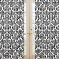 Sweet Jojo Designs Isabella Window Curtain Panel Set in Damask