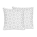 Sweet Jojo Designs Diamond Throw Pillow in Grey/White (Set of 2)