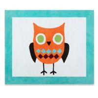 Sweet Jojo Designs Hooty 36-Inch x 30-Inch Accent Rug in Turquoise/Lime