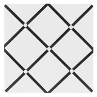 Sweet Jojo Designs Hotel Fabric Memo Board in White/Black
