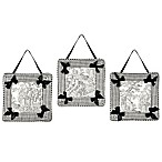 Sweet Jojo Designs French Toile Wall Décor in Black/Cream (Set of 3)