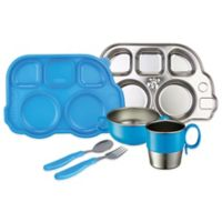Innobaby Din Din SMART™ 7-Piece Stainless Steel Mealtime Set in Blue