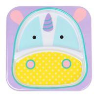 SKIP*HOP® Zoo Divided Plate in Unicorn