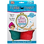 The Original Turbie Twist® Super-Absorbent Hair Towel in Green/Red (Set of 2)
