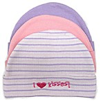 So 'dorable Girls  I Love Kisses!  3-Pack Beanie Set