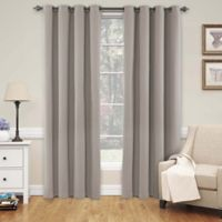 SolarShield® Naomi 84-Inch Room Darkening Window Curtain Panel in Linen