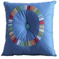 Fiesta® Embroidered Circle Square Throw Pillow in Lapis