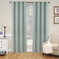 SolarShield® Naomi 63-Inch Room Darkening Window Curtain Panel in Blue