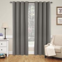 SolarShield® Naomi 84-Inch Room Darkening Window Curtain Panel in Smoke