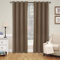 SolarShield® Naomi 84-Inch Room Darkening Window Curtain Panel in Teak