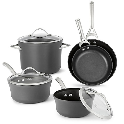 Calphalon Contemporary Stainless  Piece Cookware Set Bed Bath And Beyond