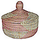12-Inch x 11-Inch Seagrass Basket  in Rose Bay Finish