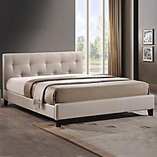 Designer Headboard annette designer bed with upholstered headboard - bed bath & beyond