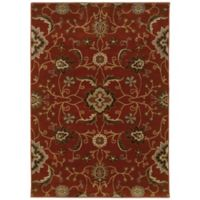 Oriental Weavers Casablanca Floral 3-Foot 10-Inch x 5-Foot 5-Inch Rug in Red