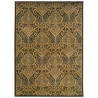 Oriental Weavers Casablanca Damask 3-Foot 10-Inch x 5-Foot 5-Inch Rug in Green