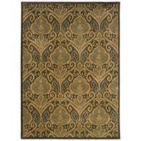 Oriental Weavers Casablanca Damask 3-Foot 10-Inch x 5-Foot 5-Inch Rug in Green