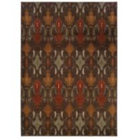 Oriental Weavers Casablanca Ikat 7-Foot 10-Inch x 10-Foot 10-Inch Rug in Brown