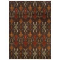 Oriental Weavers Casablanca Ikat 9-Foot 10-Inch x 12-Foot 10-Inch Rug in Brown
