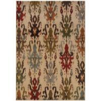 Oriental Weavers Casablanca Ikat 9-Foot 10-Inch x 12-Foot 10-Inch Rug in Beige