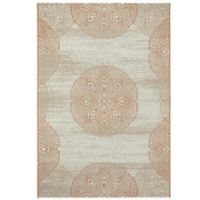 Genevieve Gorder by Capel Rugs Finesse Mandala 3-Foot 11-Inch x 5-Foot 6-Inch Woven Rug in Orange