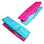 Clothes Pin Boca Clips® in Pink/Blue (Set of 2)