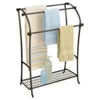InterDesign® York® Lyra Free Standing Towel Stand in Bronze
