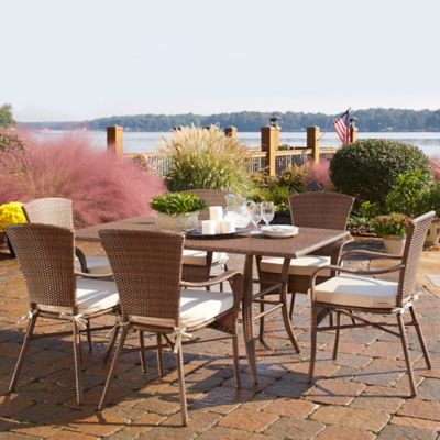 Panama Jack Key Biscayne 7 Piece Outdoor Dining Set With Cushions
