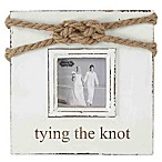 "Mud Pie® ""Tying the Knot  3-Inch x 3-Inch Picture Frame"