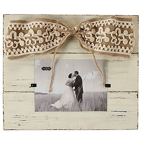 Mud Pie 174 Linen Hanger 4 Inch X 6 Inch Picture Frame With